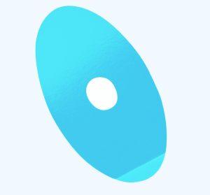 Blu stick oval